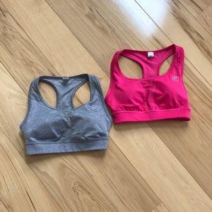 Fila medium support sports bra bundle.  Like new